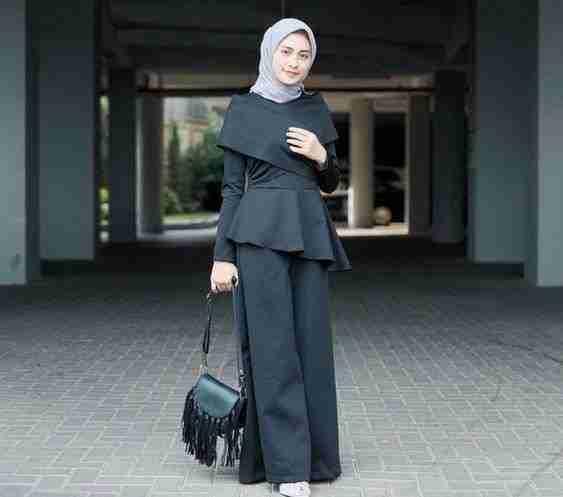black dress hijab