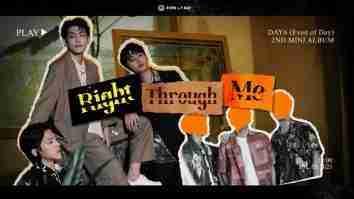 lirik lagu Right Through Me Even of Day Day6 terjemahan